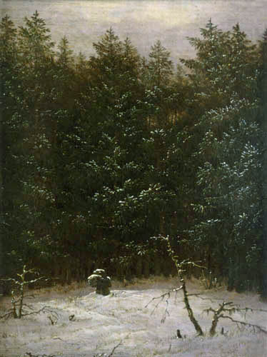 Carl Gustav Carus - Snowy Woods