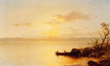 John William Casilear - Lake at Sunset