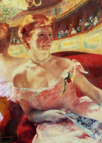 Mary Cassatt - Lydia with pearl necklace