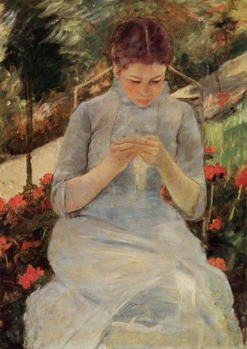 Mary Cassatt - Stitching Woman