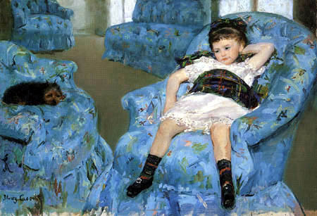 Mary Cassatt - A girl in a blue armchair