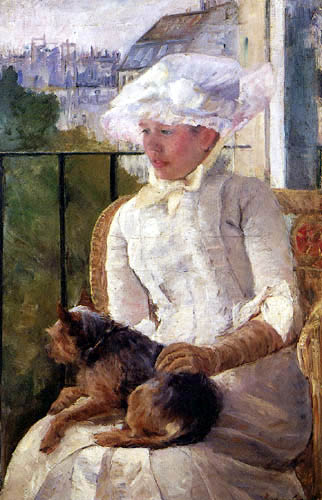 Mary Cassatt - Susan with dog at the balcony