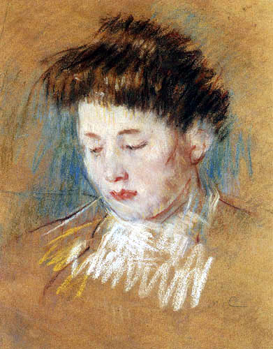 Mary Cassatt - Head of Julie, Looking Down