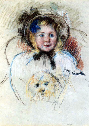 Mary Cassatt - Sara Holding her Dog