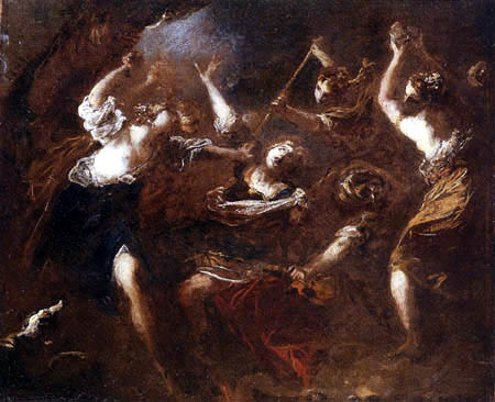 Valerio Castello - Orpheus attacked by the Maenads of Ciconia