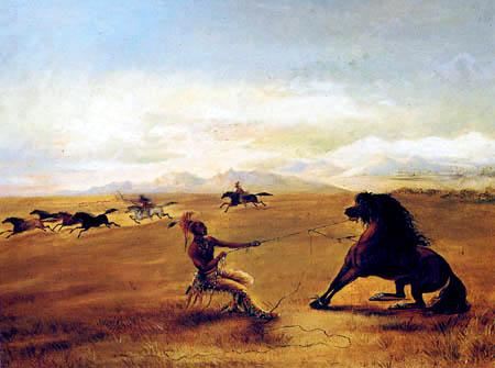 George Catlin - Das Einfangen des Wildpferdes
