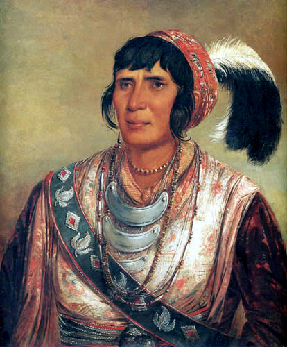 George Catlin - Indianerporträt