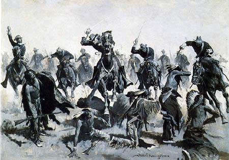 George Catlin - Battle between Sioux, Sauk and Fox