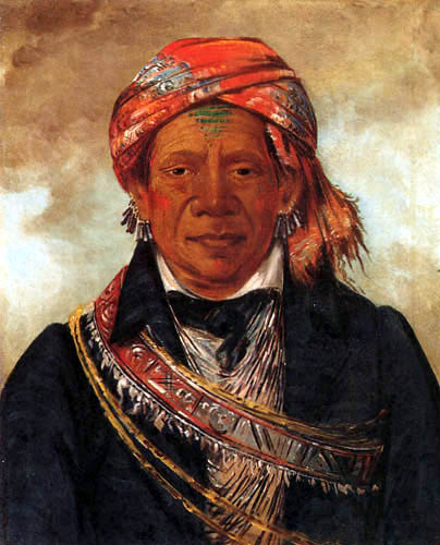 George Catlin - Bód-a-Sin, Chief of the Tribe