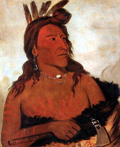 George Catlin - Little Bear, a Hunkpapa Brave