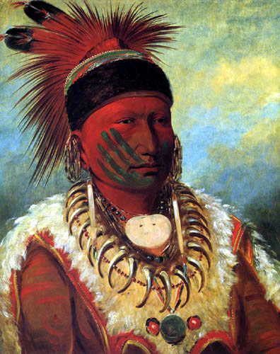 George Catlin - The White Cloud, Head Chief of the Iowa