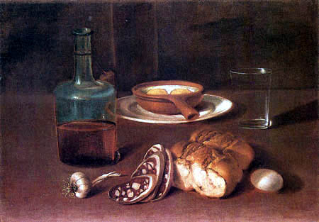 Giacomo Ceruti - Eggs, salami, bread, wine and garlic