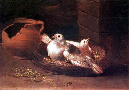 Giacomo Ceruti - Two doves and a jug