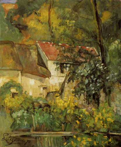 Paul Cézanne (Cezanne) - The house of Pere Lacroix in Auvers