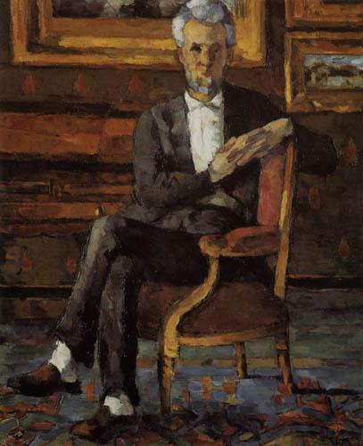 Paul Cézanne (Cezanne) - Victor Chocquet im Lehnstuhl
