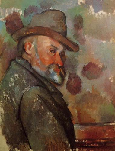 Paul Cézanne (Cezanne) - Selbstbildnis mit Filzhut