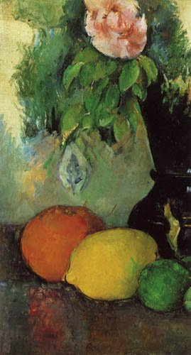 Paul Cézanne (Cezanne) - Still life, flowers and fruits