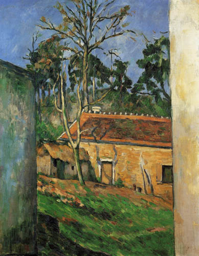 Paul Cézanne (Cezanne) - Hof eines Gehöfts