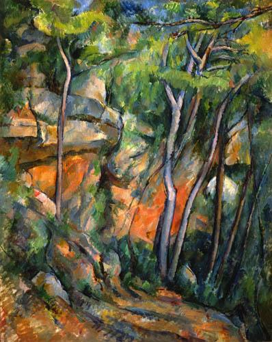 Paul Cézanne (Cezanne) - Im Park des Chateau Noir