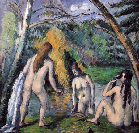 Paul Cézanne (Cezanne) - Drei badende Frauen
