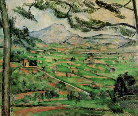 Paul Cézanne (Cezanne) - Mont Sainte-Victoire mit großer Pinie