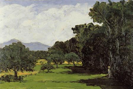 Paul Cézanne (Cezanne) - Landschaft um Aix-en-Provence