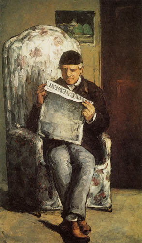 Paul Cézanne (Cezanne) - Portrait of Louis Auguste Cezanne