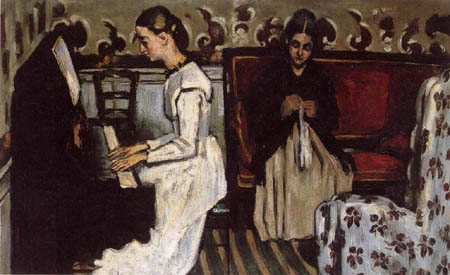 Paul Cézanne (Cezanne) - Mädchen am Klavier