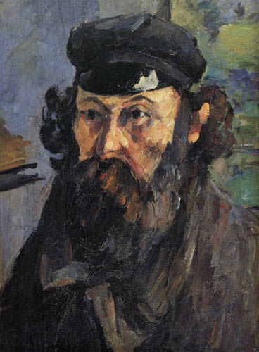 Paul Cézanne (Cezanne) - Selfportrait with hat