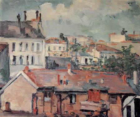 Paul Cézanne (Cezanne) - Die Dächer
