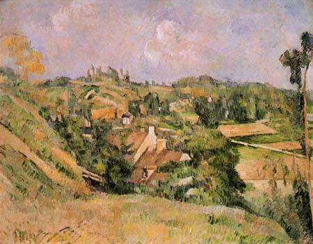 Paul Cézanne (Cezanne) - Auvers vom Val Harme aus gesehen