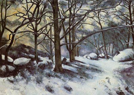 Paul Cézanne (Cezanne) - Schneeschmelze in Fontainebleau