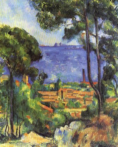 Paul Cézanne (Cezanne) - Blick auf L Éstaque