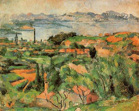 Paul Cézanne (Cezanne) - L Éstaque und die Bucht von Marseille
