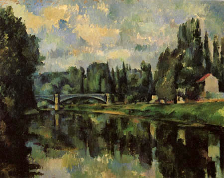 Paul Cézanne (Cezanne) - Brücke über die Marne bei Creteil
