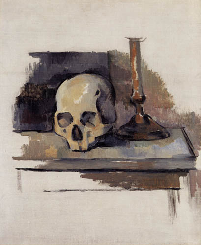 Paul Cézanne (Cezanne) - Skull and Candlestick