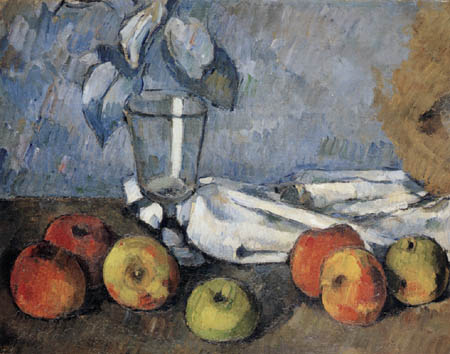 Paul Cézanne (Cezanne) - Glass and apples