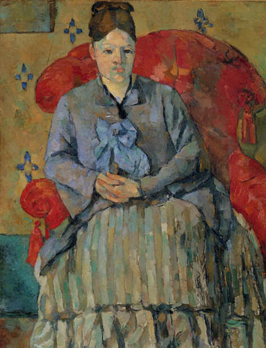 Paul Cézanne (Cezanne) - Madame Cezanne in a red armchair