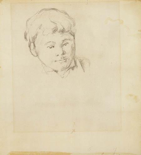 Paul Cézanne (Cezanne) - Kopf des Sohnes