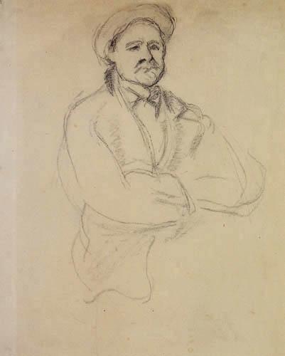 Paul Cézanne (Cezanne) - Halbfigur eines Bauern
