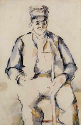 Paul Cézanne (Cezanne) - Sitzender Bauer