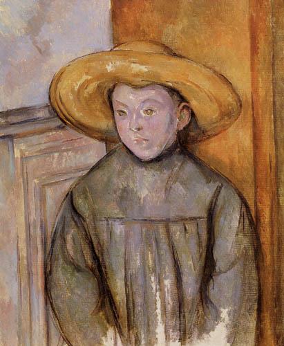 Paul Cézanne (Cezanne) - Kind mit Strohhut