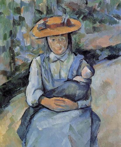 Paul Cézanne (Cezanne) - Mädchen mit Puppe