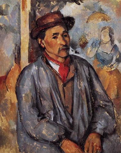 Paul Cézanne (Cezanne) - Bauer in blauem Hemd