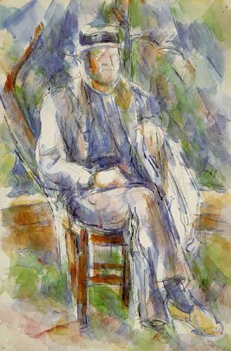 Paul Cézanne (Cezanne) - Bauer mit Strohhut