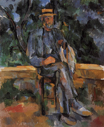 Paul Cézanne (Cezanne) - Sitting man