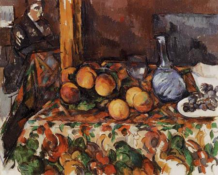 Paul Cézanne (Cezanne) - Stillleben mit Pfirsichen und Karaffe