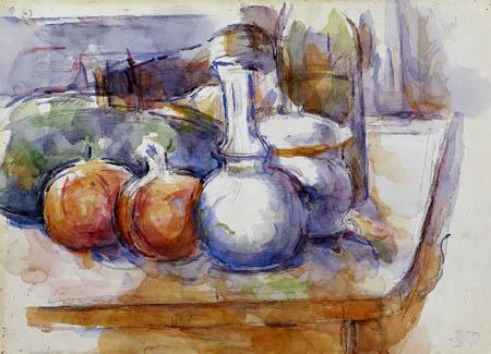 Paul Cézanne (Cezanne) - Stillleben mit Granatäpfeln und Karaffe