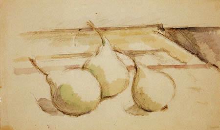 Paul Cézanne (Cezanne) - Drei Birnen