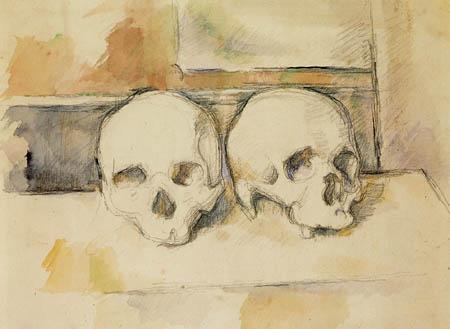 Paul Cézanne (Cezanne) - Two skulls